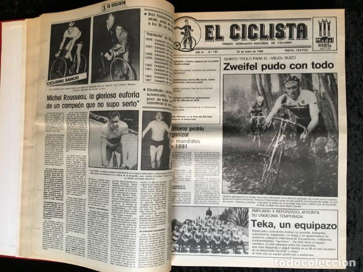 Coleccionismo deportivo: EL CICLISTA - PRIMER SEMANARIO NACIONAL DE CICLISMO - TOMO VI - 1986 - VUELTA ESPAÑA - ALVARO PINO - Foto 9 - 199791837