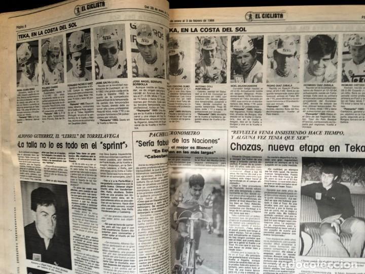 Coleccionismo deportivo: EL CICLISTA - PRIMER SEMANARIO NACIONAL DE CICLISMO - TOMO VI - 1986 - VUELTA ESPAÑA - ALVARO PINO - Foto 10 - 199791837