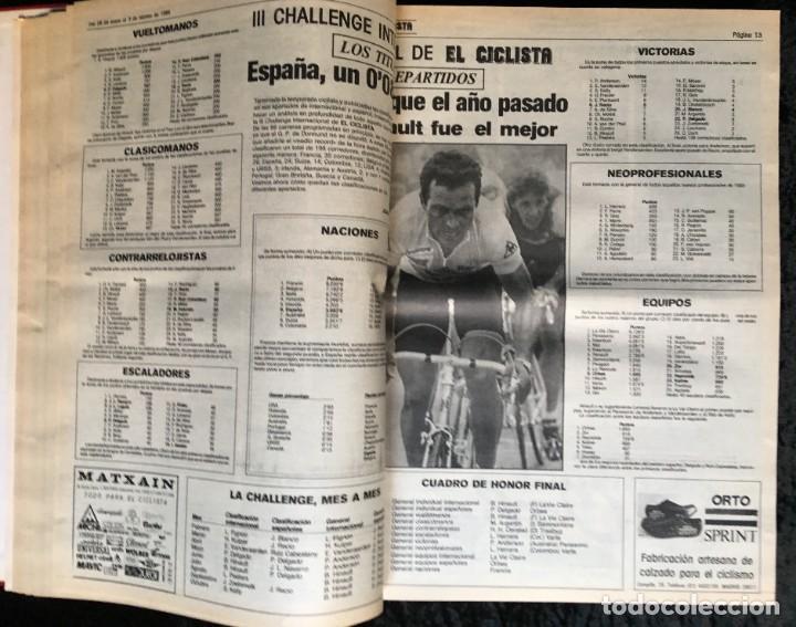 Coleccionismo deportivo: EL CICLISTA - PRIMER SEMANARIO NACIONAL DE CICLISMO - TOMO VI - 1986 - VUELTA ESPAÑA - ALVARO PINO - Foto 12 - 199791837