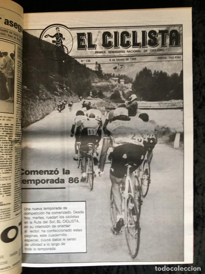 Coleccionismo deportivo: EL CICLISTA - PRIMER SEMANARIO NACIONAL DE CICLISMO - TOMO VI - 1986 - VUELTA ESPAÑA - ALVARO PINO - Foto 13 - 199791837