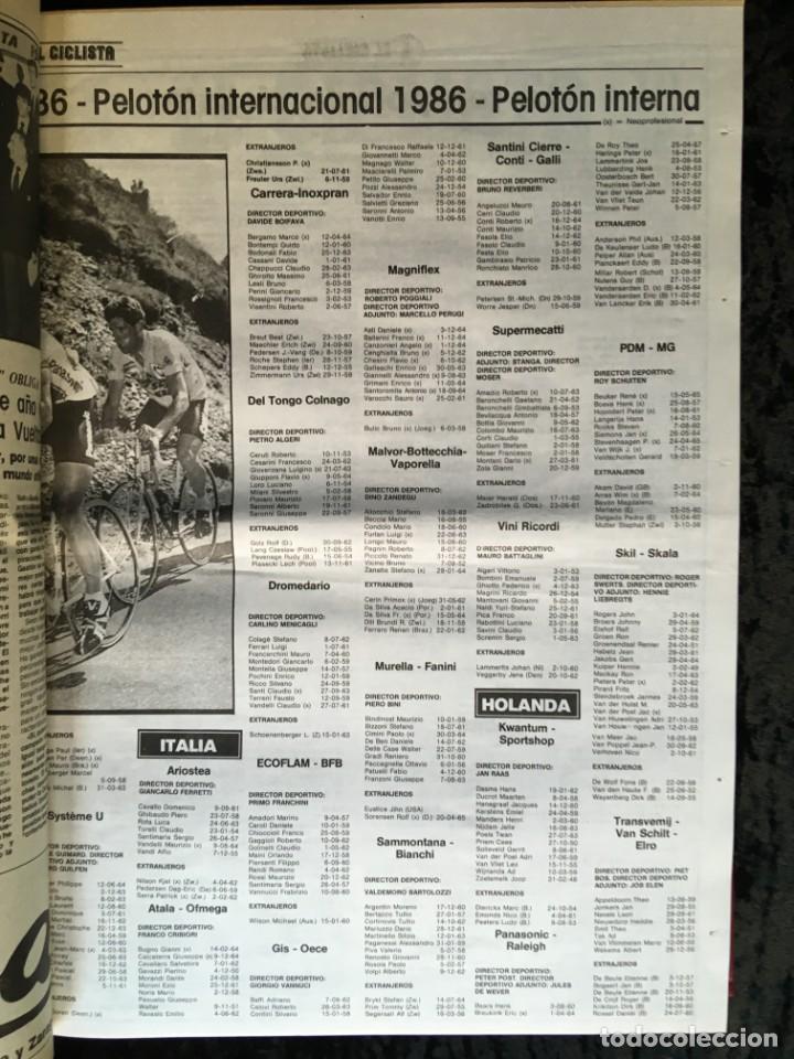 Coleccionismo deportivo: EL CICLISTA - PRIMER SEMANARIO NACIONAL DE CICLISMO - TOMO VI - 1986 - VUELTA ESPAÑA - ALVARO PINO - Foto 15 - 199791837