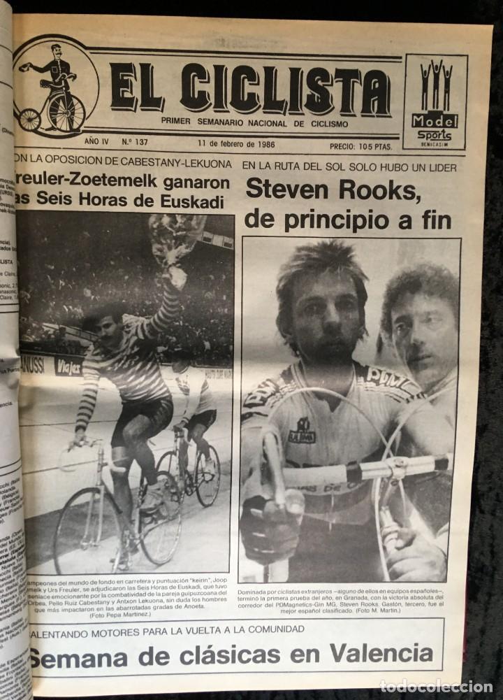 Coleccionismo deportivo: EL CICLISTA - PRIMER SEMANARIO NACIONAL DE CICLISMO - TOMO VI - 1986 - VUELTA ESPAÑA - ALVARO PINO - Foto 16 - 199791837