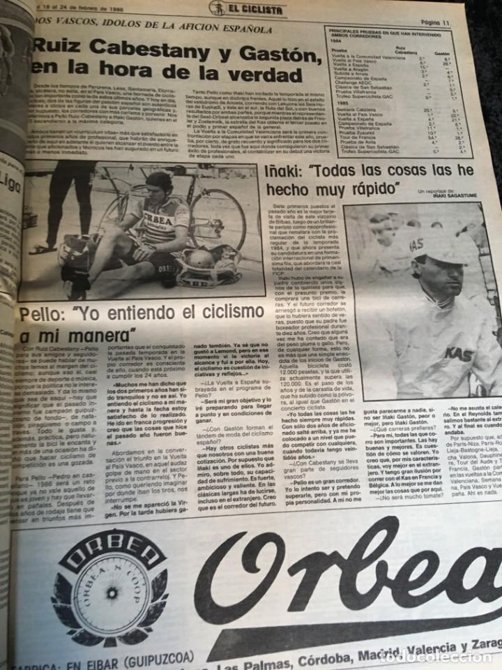 Coleccionismo deportivo: EL CICLISTA - PRIMER SEMANARIO NACIONAL DE CICLISMO - TOMO VI - 1986 - VUELTA ESPAÑA - ALVARO PINO - Foto 17 - 199791837