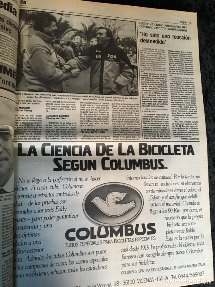 Coleccionismo deportivo: EL CICLISTA - PRIMER SEMANARIO NACIONAL DE CICLISMO - TOMO VI - 1986 - VUELTA ESPAÑA - ALVARO PINO - Foto 18 - 199791837