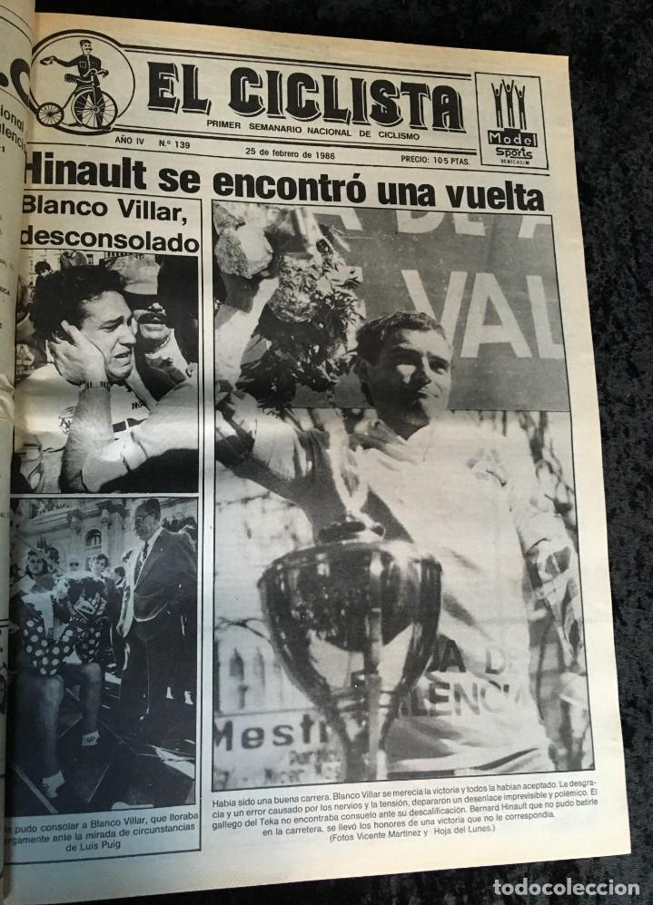 Coleccionismo deportivo: EL CICLISTA - PRIMER SEMANARIO NACIONAL DE CICLISMO - TOMO VI - 1986 - VUELTA ESPAÑA - ALVARO PINO - Foto 19 - 199791837