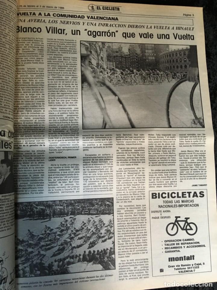 Coleccionismo deportivo: EL CICLISTA - PRIMER SEMANARIO NACIONAL DE CICLISMO - TOMO VI - 1986 - VUELTA ESPAÑA - ALVARO PINO - Foto 20 - 199791837