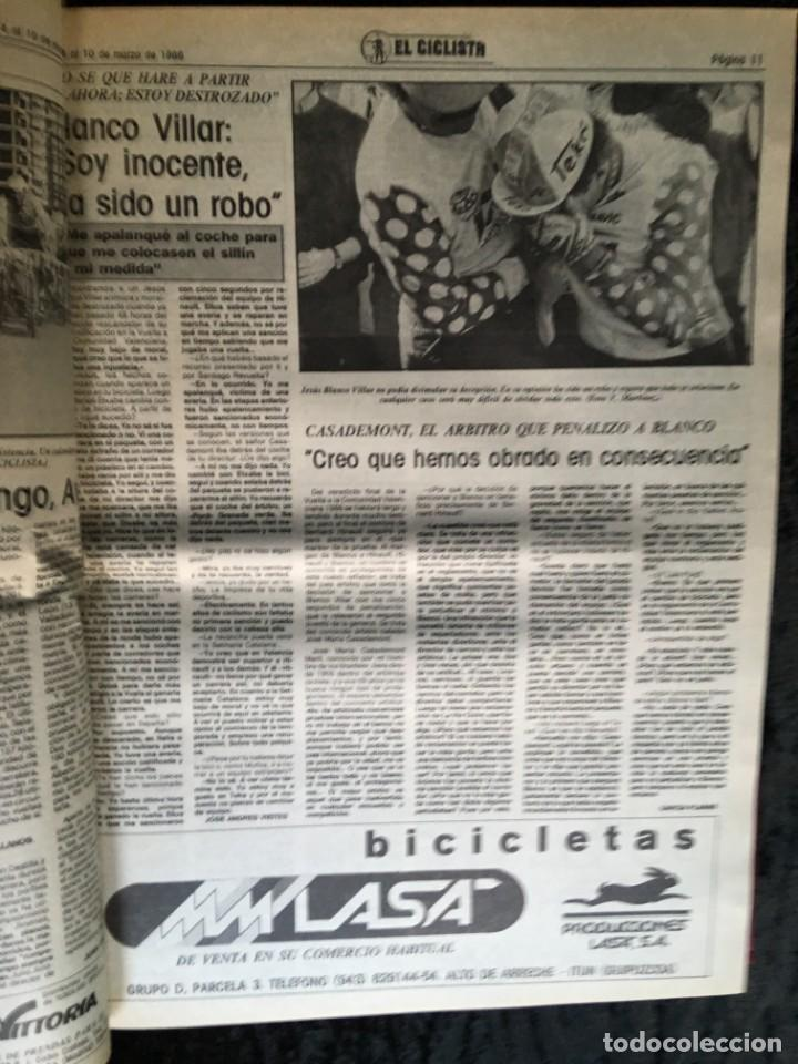 Coleccionismo deportivo: EL CICLISTA - PRIMER SEMANARIO NACIONAL DE CICLISMO - TOMO VI - 1986 - VUELTA ESPAÑA - ALVARO PINO - Foto 23 - 199791837