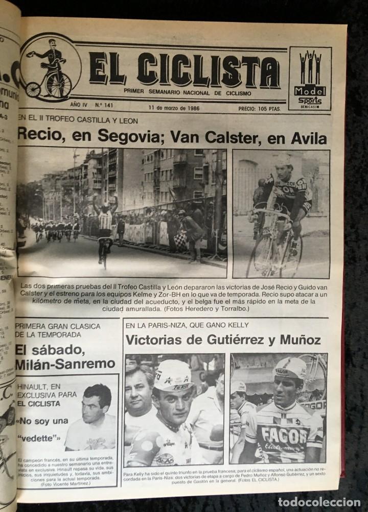 Coleccionismo deportivo: EL CICLISTA - PRIMER SEMANARIO NACIONAL DE CICLISMO - TOMO VI - 1986 - VUELTA ESPAÑA - ALVARO PINO - Foto 24 - 199791837