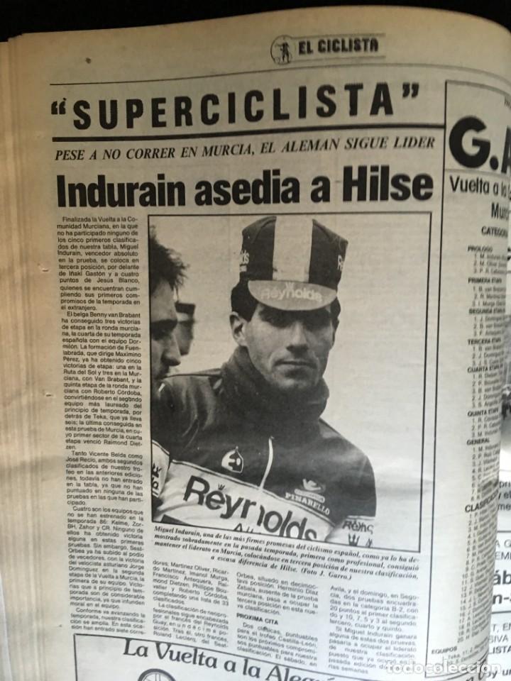 Coleccionismo deportivo: EL CICLISTA - PRIMER SEMANARIO NACIONAL DE CICLISMO - TOMO VI - 1986 - VUELTA ESPAÑA - ALVARO PINO - Foto 25 - 199791837