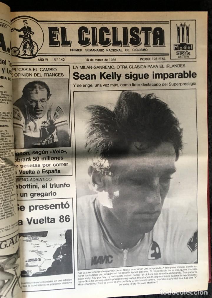 EL CICLISTA - PRIMER SEMANARIO NACIONAL DE CICLISMO - TOMO VI - 1986 - VUELTA ESPAÑA - ALVARO PINO (Coleccionismo Deportivo - Libros de Ciclismo)