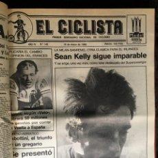 Coleccionismo deportivo: EL CICLISTA - PRIMER SEMANARIO NACIONAL DE CICLISMO - TOMO VI - 1986 - VUELTA ESPAÑA - ALVARO PINO. Lote 199791837