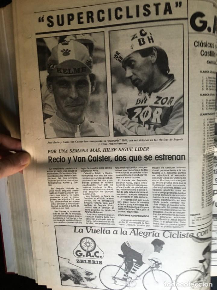 Coleccionismo deportivo: EL CICLISTA - PRIMER SEMANARIO NACIONAL DE CICLISMO - TOMO VI - 1986 - VUELTA ESPAÑA - ALVARO PINO - Foto 26 - 199791837