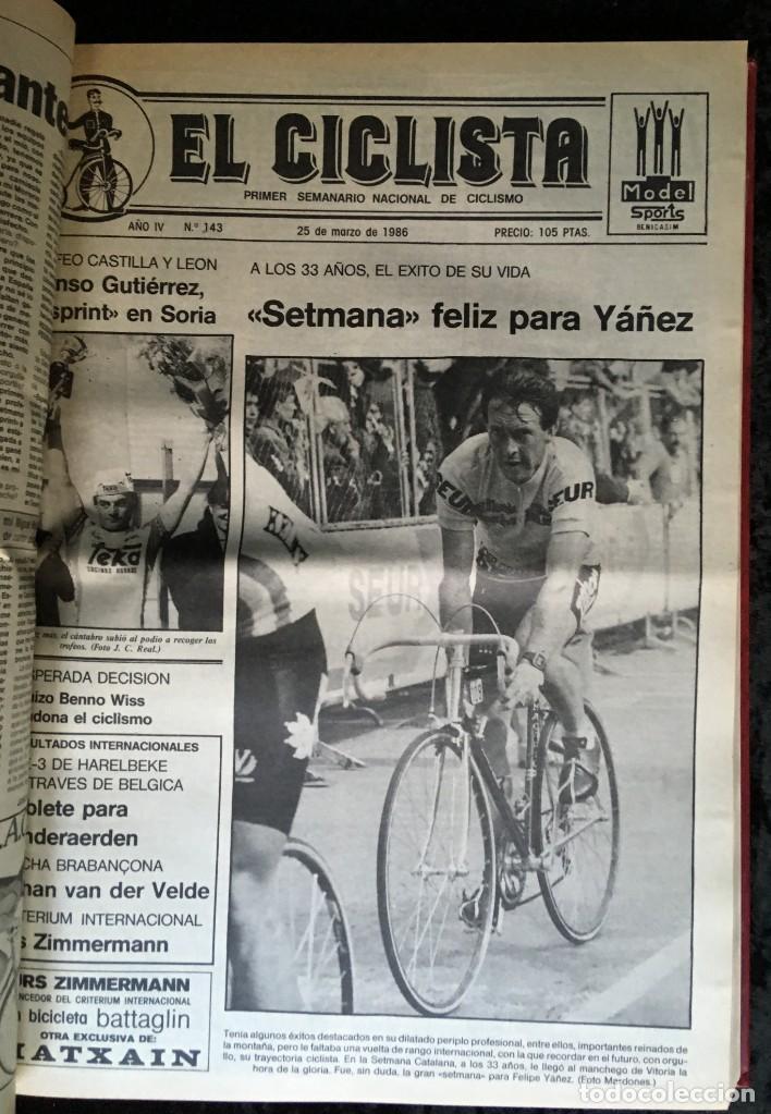 Coleccionismo deportivo: EL CICLISTA - PRIMER SEMANARIO NACIONAL DE CICLISMO - TOMO VI - 1986 - VUELTA ESPAÑA - ALVARO PINO - Foto 27 - 199791837