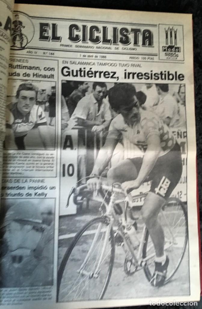 Coleccionismo deportivo: EL CICLISTA - PRIMER SEMANARIO NACIONAL DE CICLISMO - TOMO VI - 1986 - VUELTA ESPAÑA - ALVARO PINO - Foto 28 - 199791837