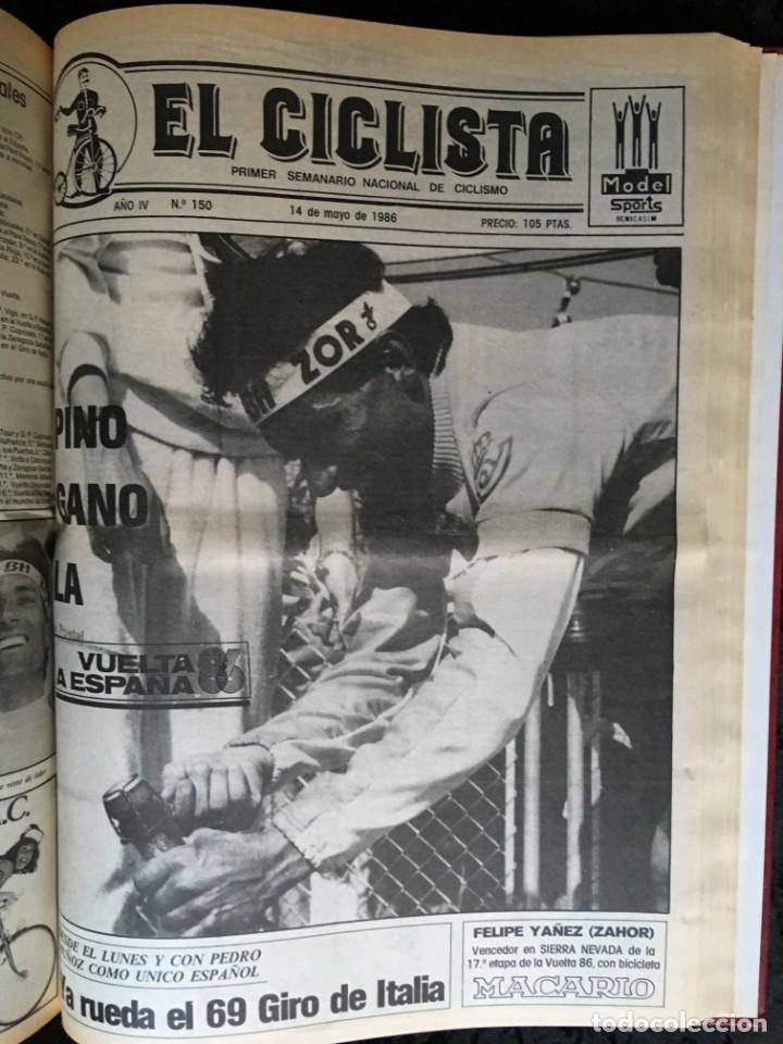 Coleccionismo deportivo: EL CICLISTA - PRIMER SEMANARIO NACIONAL DE CICLISMO - TOMO VI - 1986 - VUELTA ESPAÑA - ALVARO PINO - Foto 31 - 199791837