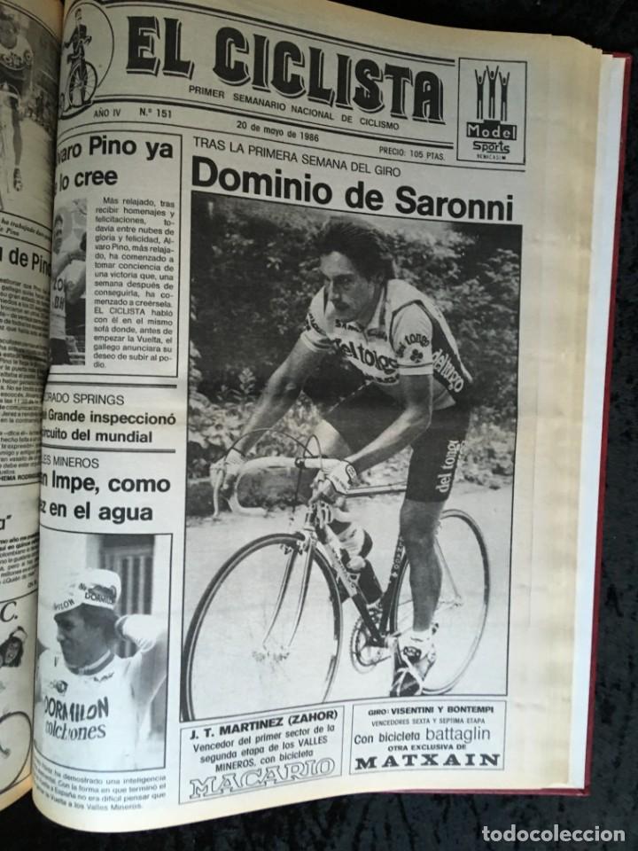 Coleccionismo deportivo: EL CICLISTA - PRIMER SEMANARIO NACIONAL DE CICLISMO - TOMO VI - 1986 - VUELTA ESPAÑA - ALVARO PINO - Foto 33 - 199791837