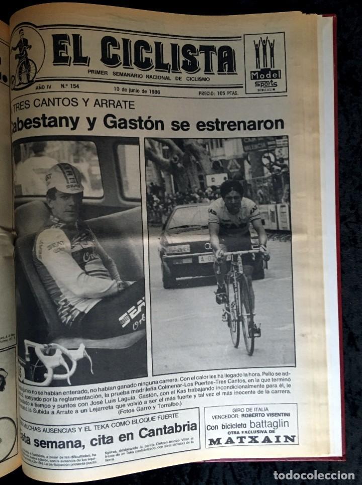 Coleccionismo deportivo: EL CICLISTA - PRIMER SEMANARIO NACIONAL DE CICLISMO - TOMO VI - 1986 - VUELTA ESPAÑA - ALVARO PINO - Foto 34 - 199791837