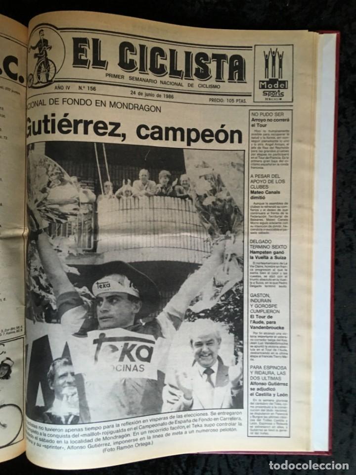 Coleccionismo deportivo: EL CICLISTA - PRIMER SEMANARIO NACIONAL DE CICLISMO - TOMO VI - 1986 - VUELTA ESPAÑA - ALVARO PINO - Foto 35 - 199791837