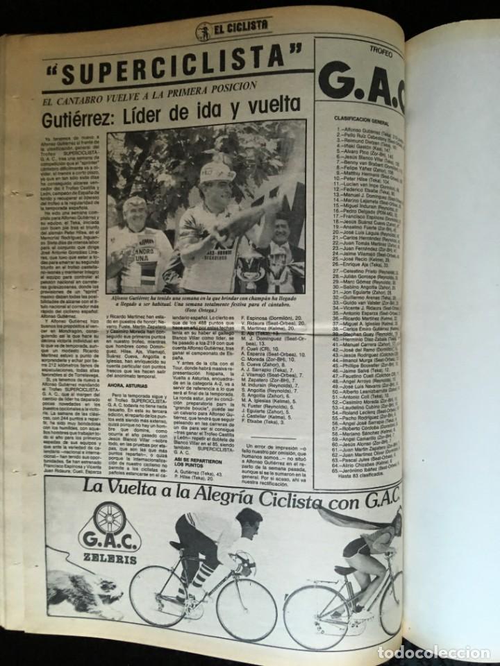 Coleccionismo deportivo: EL CICLISTA - PRIMER SEMANARIO NACIONAL DE CICLISMO - TOMO VI - 1986 - VUELTA ESPAÑA - ALVARO PINO - Foto 36 - 199791837