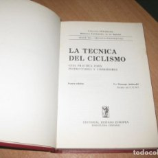 Colecionismo desportivo: LA TECNICA DEL CICLISMO. Lote 203244373