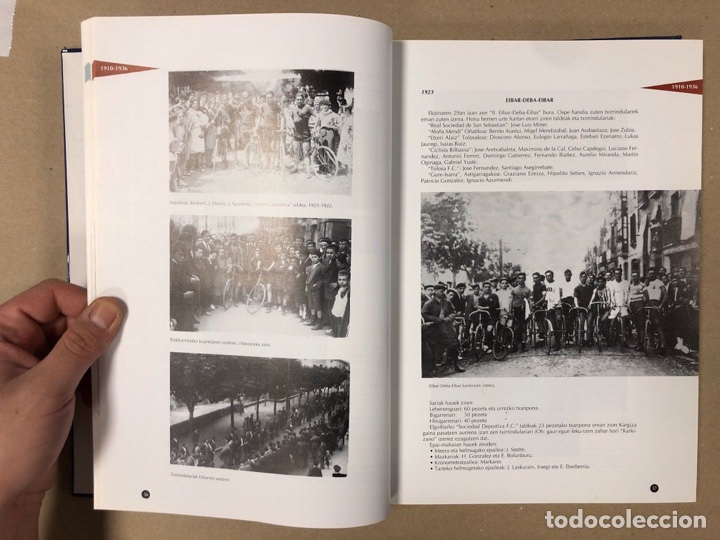 Coleccionismo deportivo: TXIRRINDULARITZA EIBAR (1910 - 1993). JUANJO SEBASTIÁN - BEGOÑA AZPIRI. CLUB CICLISTA EIBARRES - Foto 4 - 204526200