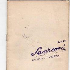 Coleccionismo deportivo: GUIA DEL CICLISTA. SANROMÁ. Lote 207361683