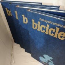 Coleccionismo deportivo: ENCICLOPEDIA PRÁCTICA DE LA BICICLETA. VOLÚMENES 1-2-3-4: OBRA COMPLETA. Lote 207534835
