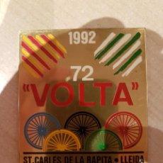 Coleccionismo deportivo: VOLTA CICLISTA 72 PLACA DE METAL AÑO 1992 VER FOTO. Lote 208843871