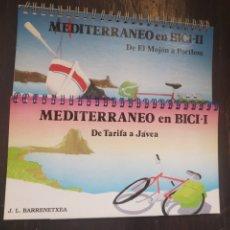 Coleccionismo deportivo: MEDITERRANEO EN BICI. 2 VOL. BARRENETXEA, J.L. SUA EDIZIOAK. BILBAO, 1991. Lote 209321785