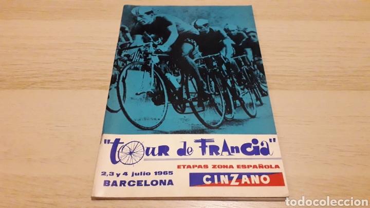 CICLISMO TOUR DE FRANCIA FRANCE 1965, PROGRAMA OFICIAL ZONA ESPAÑOLA, BARCELONA. PARTICIPANTES... (Coleccionismo Deportivo - Libros de Ciclismo)