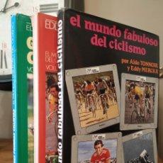 Coleccionismo deportivo: EL MUNDO FABULOSO DEL CICLISMO 3 VOLUMEN EDDY MERCKX CICLISMO A FONDO - WINNING PRODUCCIÓN. Lote 213945216