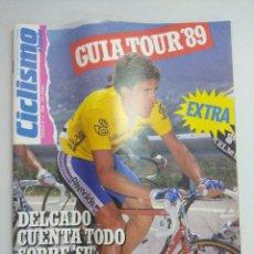 Coleccionismo deportivo: PERICO DELGADO/CICLISMO A FONDO Nº4 EXTRA GUIA TOUR 89.. Lote 221116801