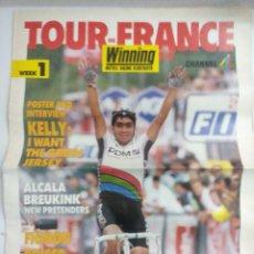 Coleccionismo deportivo: REVISTA TOUR DE FRANCIA 1989/THE DAILY TELEGRAPH/GRAN POSTER SEAN KELLY.. Lote 221118077