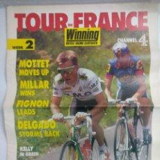 Coleccionismo deportivo: REVISTA TOUR DE FRANCIA 1989/THE DAILY TELEGRAPH/GRAN POSTER GREG LEMOND.. Lote 221118230