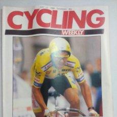 Coleccionismo deportivo: CYCLING WEEKLY/REVISTA TOUR DE FRANCIA 1989.. Lote 221118355