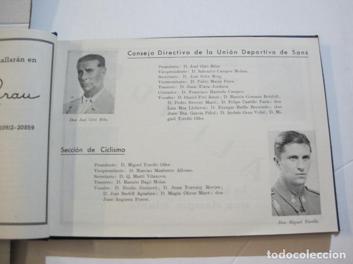 Coleccionismo deportivo: CICLISMO-XXV VUELTA CICLISTA A CATALUÑA-AÑO 1945-GRAN PREMIO PIRELLI-UD SANS-VER FOTOS-(K-728) - Foto 12 - 221609837