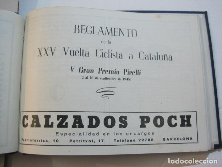Coleccionismo deportivo: CICLISMO-XXV VUELTA CICLISTA A CATALUÑA-AÑO 1945-GRAN PREMIO PIRELLI-UD SANS-VER FOTOS-(K-728) - Foto 31 - 221609837