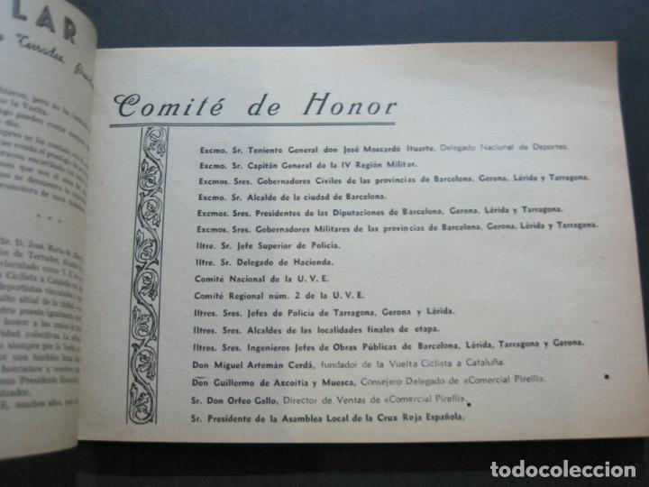 Coleccionismo deportivo: CICLISMO-XXX VUELTA CICLISTA A CATALUÑA-PREMIO PIRELLI-AÑO 1950-PROGRAMA ANTIGUO-VER FOTOS-(K-1001) - Foto 9 - 224248585
