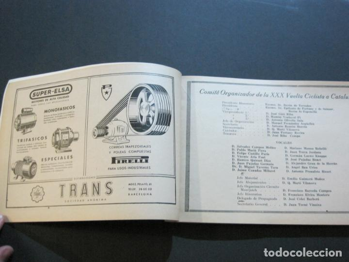 Coleccionismo deportivo: CICLISMO-XXX VUELTA CICLISTA A CATALUÑA-PREMIO PIRELLI-AÑO 1950-PROGRAMA ANTIGUO-VER FOTOS-(K-1001) - Foto 11 - 224248585