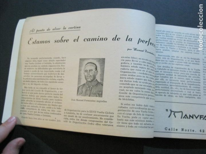 Coleccionismo deportivo: CICLISMO-XXX VUELTA CICLISTA A CATALUÑA-PREMIO PIRELLI-AÑO 1950-PROGRAMA ANTIGUO-VER FOTOS-(K-1001) - Foto 14 - 224248585