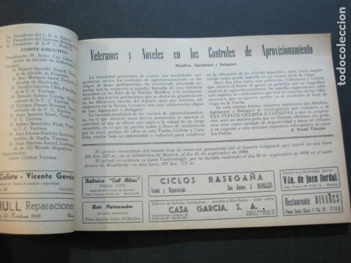Coleccionismo deportivo: CICLISMO-XXX VUELTA CICLISTA A CATALUÑA-PREMIO PIRELLI-AÑO 1950-PROGRAMA ANTIGUO-VER FOTOS-(K-1001) - Foto 17 - 224248585