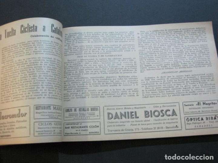 Coleccionismo deportivo: CICLISMO-XXX VUELTA CICLISTA A CATALUÑA-PREMIO PIRELLI-AÑO 1950-PROGRAMA ANTIGUO-VER FOTOS-(K-1001) - Foto 19 - 224248585