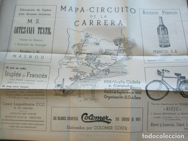 Coleccionismo deportivo: CICLISMO-XXX VUELTA CICLISTA A CATALUÑA-PREMIO PIRELLI-AÑO 1950-PROGRAMA ANTIGUO-VER FOTOS-(K-1001) - Foto 24 - 224248585