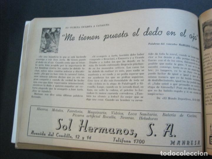 Coleccionismo deportivo: CICLISMO-XXX VUELTA CICLISTA A CATALUÑA-PREMIO PIRELLI-AÑO 1950-PROGRAMA ANTIGUO-VER FOTOS-(K-1001) - Foto 28 - 224248585