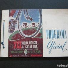 Coleccionismo deportivo: CICLISMO-XXX VUELTA CICLISTA A CATALUÑA-PREMIO PIRELLI-AÑO 1950-PROGRAMA ANTIGUO-VER FOTOS-(K-1001). Lote 224248585