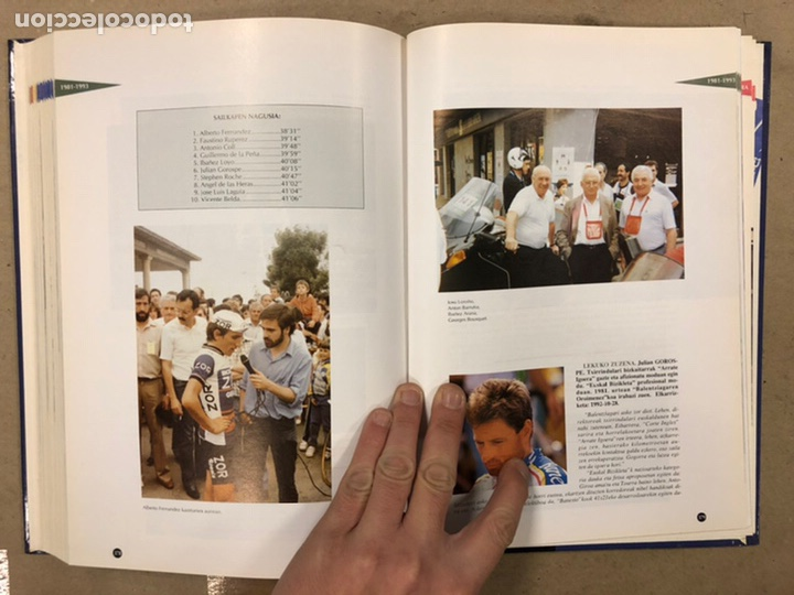 Coleccionismo deportivo: TXIRRINDULARITZA EIBAR (1910 - 1993). JUANJO SEBASTIÁN - BEGOÑA AZPIRI. CLUB CICLISTA EIBARRES 1994. - Foto 14 - 224307368