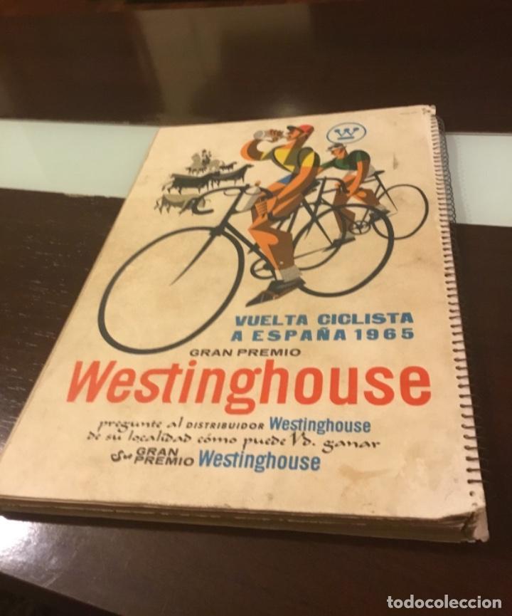 Coleccionismo deportivo: Dificil libro de ruta de la Vuelta ciclista España 1965,Regalo partes de carrera mirar las fotos - Foto 3 - 229466840