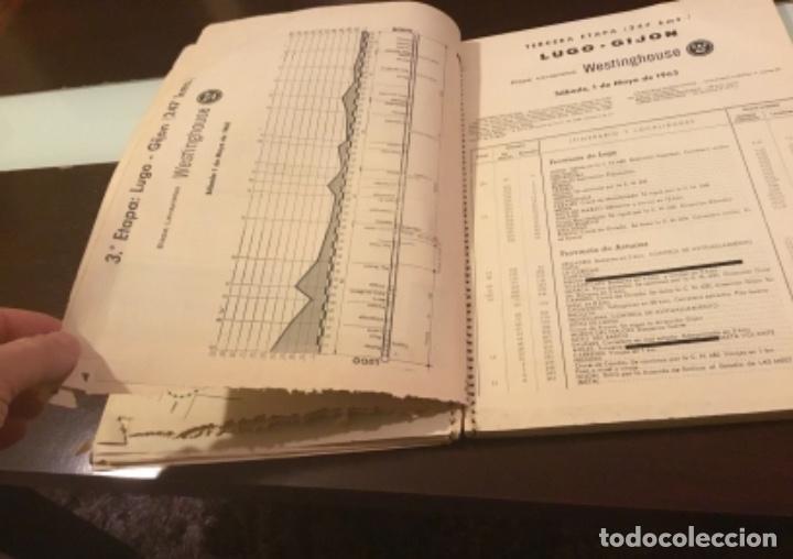 Coleccionismo deportivo: Dificil libro de ruta de la Vuelta ciclista España 1965,Regalo partes de carrera mirar las fotos - Foto 12 - 229466840