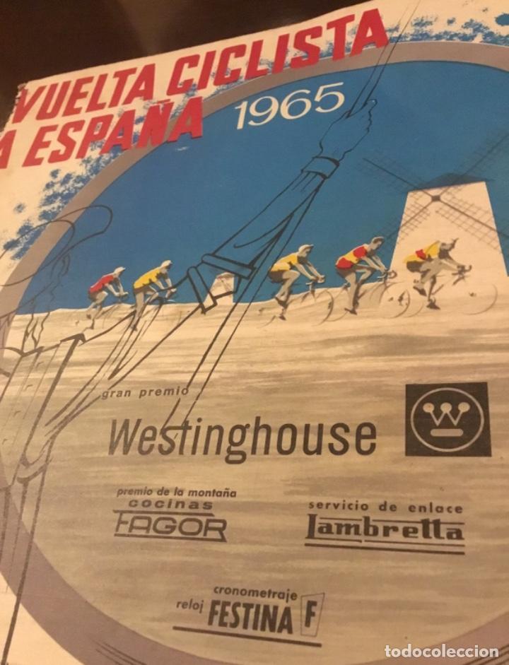 Coleccionismo deportivo: Dificil libro de ruta de la Vuelta ciclista España 1965,Regalo partes de carrera mirar las fotos - Foto 18 - 229466840