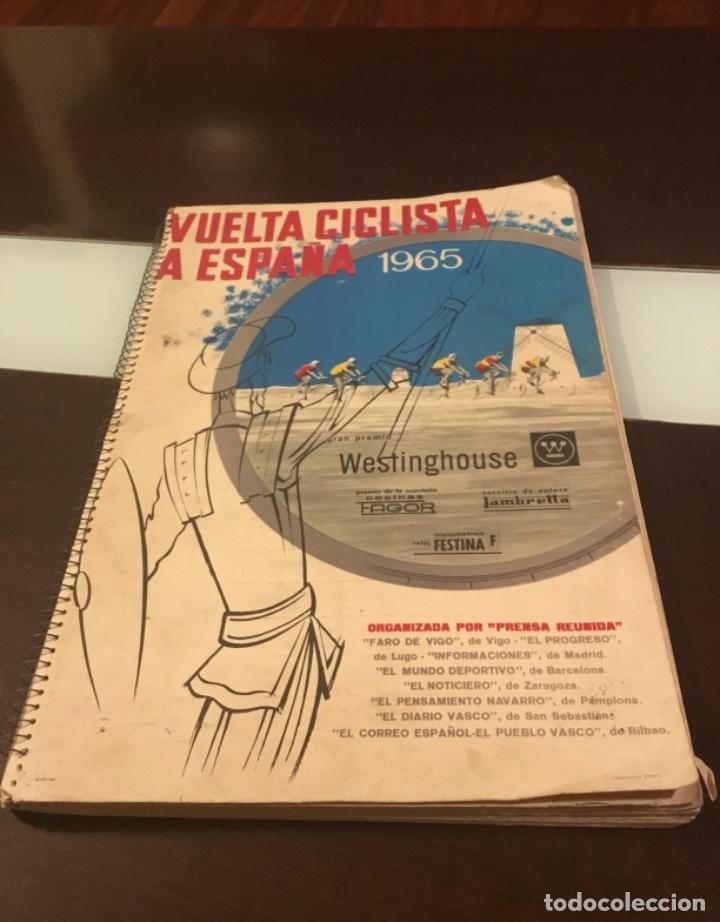 Coleccionismo deportivo: Dificil libro de ruta de la Vuelta ciclista España 1965,Regalo partes de carrera mirar las fotos - Foto 19 - 229466840